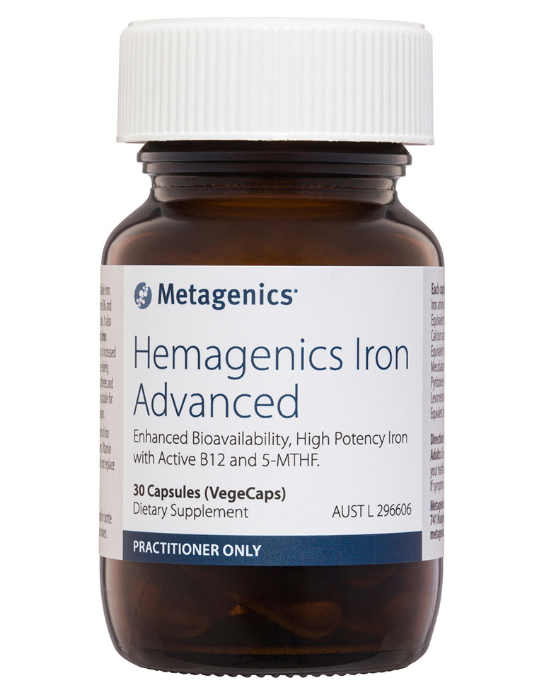 Metagenics Hemagenics Iron Advanced 30 Capsules-1